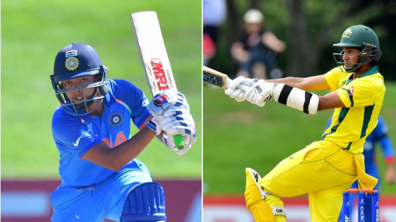 Prithvi Shaw's (right) India and Jason Sangha's(left) Australia will go all out to finish the tournament on a high. (Photo: AP)