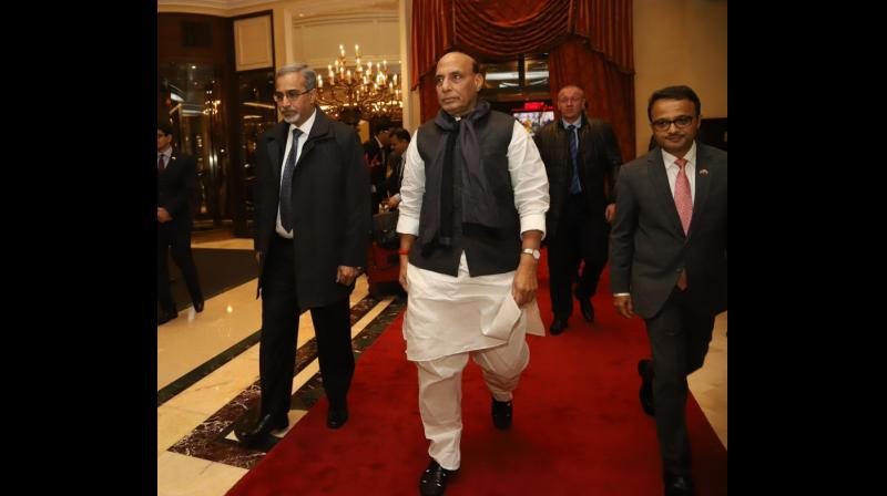 Rajnath will also inaugurate, along with Russian Minister of Industry and Trade Denis Manturov, 'India-Russia Defence Industry Cooperation Conference'. (Photo: ANI)