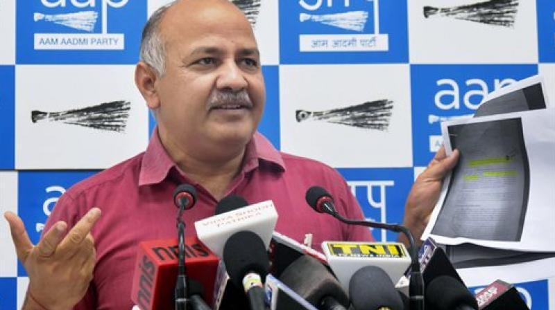 Deputy CM Manish Sisodia said on Thursday and asserted educators of Delhi government are committed to carry out 'surgical strikes' on these ills. (Photo: File)