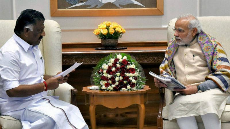 Tamil Nadu Deputy Chief Minister O Panneerselvam said no political issues were discussed with Prime Minister Narendra Modi during the meeting. (Photo: File | PTI)