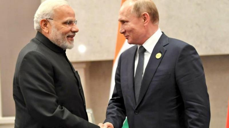 Russian president Vladimir Putin invited PM Modi to take part in Eastern Economic Forum in Vladivostok in September 2019 as a main guest, sources said. (Photo: File | MEAIndia Twitter)
