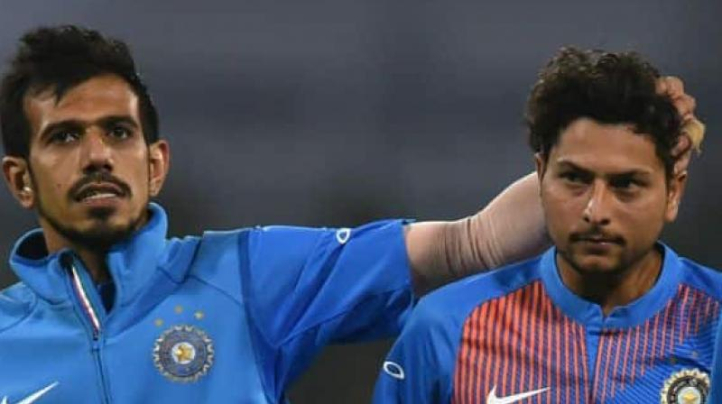 Since Yadav and Chahal's arrival on the international arena in 2017, the two wrist-spinners have made a tremendous contribution to the Indian team in limited overs cricket. (Photo: AFP)