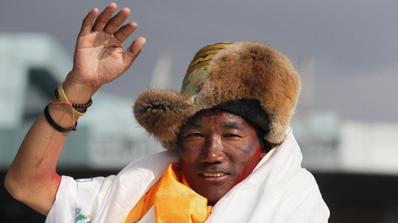 By achieving this feat, Sherpa has become the only Mountaineer in the world to hold the record for most Everest summits. (Photo: AP)