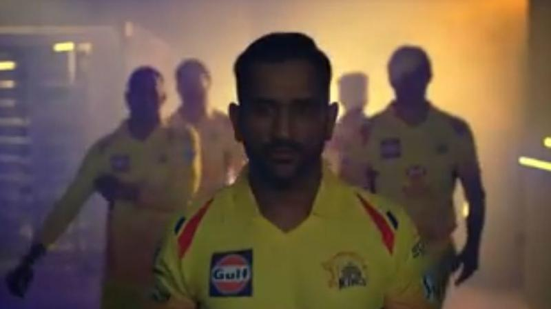 8330e1ef5 Video: MS Dhoni and co make grand IPL 2018 entry with CSK's 'Whistle ...