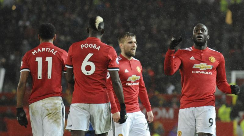 Lukaku piled on the misery in the 72nd minute with some physical play in the area, controlling Martial's pass on his chest, holding off a defender and turning to score from 15 yards. (Photo: AP)