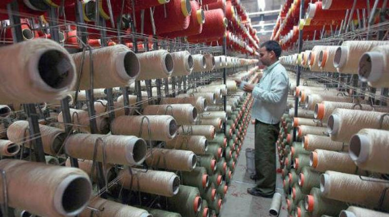 Industrial output expanded by 4.9 per cent in April this year, spurred by higher growth in manufacturing and mining sectors.