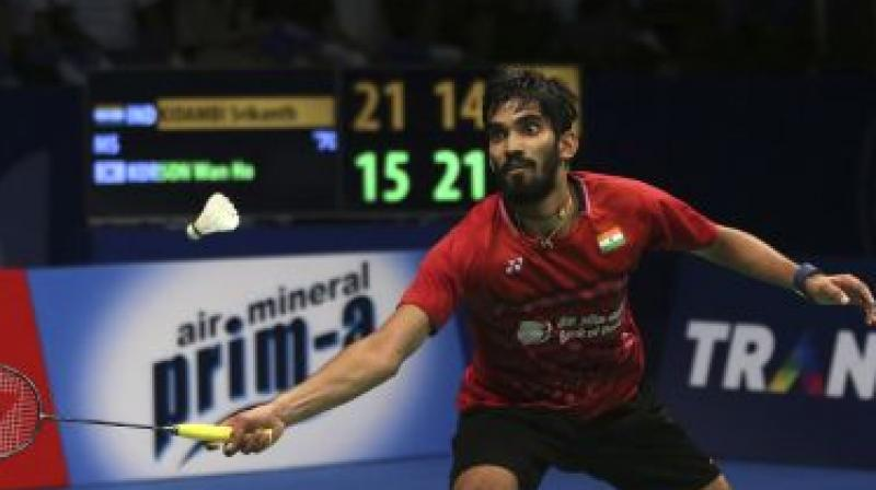 With Srikanth's exit, the Indian shuttlers' campaign at the Japan Open came to a halt as Olympic medallist and Asian Games silver-medallist PV Sindhu and HS Prannoy crashed out in the previous rounds of the women's and men's singles event respectively on Thursday. (Photo: AP)