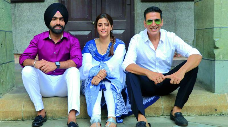 Actor Akshay Kumar, who tries to be politically correct always, recently got trolled for using co-star Nupur Sanon's dupatta as a seat to prevent his trousers from getting dirty.