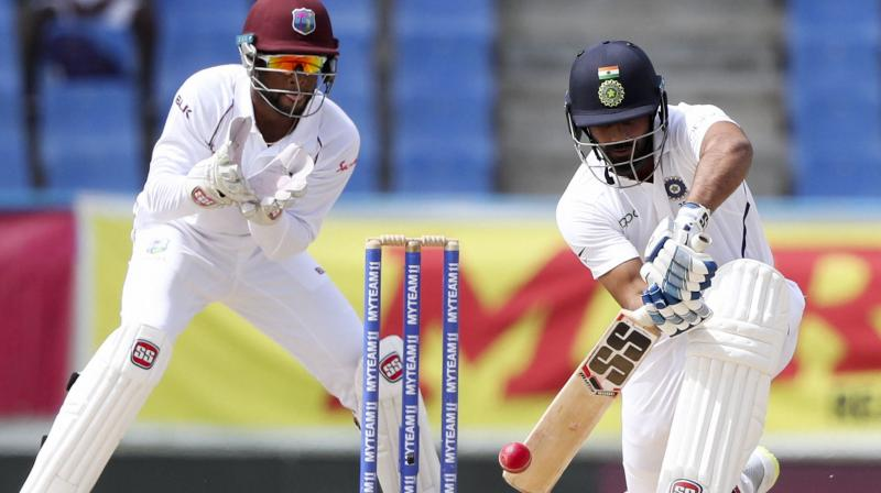Vihari and Ajinkya Rahane built a partnership of 135 runs in the second innings and helped the team to post the target of 419 runs against the Windies to win the match. (Photo: AP/PTI)