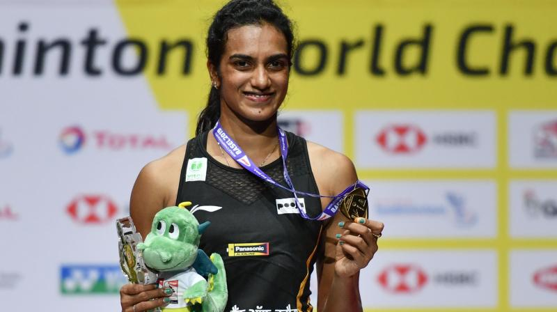 The 24-year-old became the first Indian to win a World Championships gold medal by defeating Japan's Nozomi Okuhara 21-7, 21-7 in the finals of the tournament held in Switzerland's Basel. (Photo: AFP)