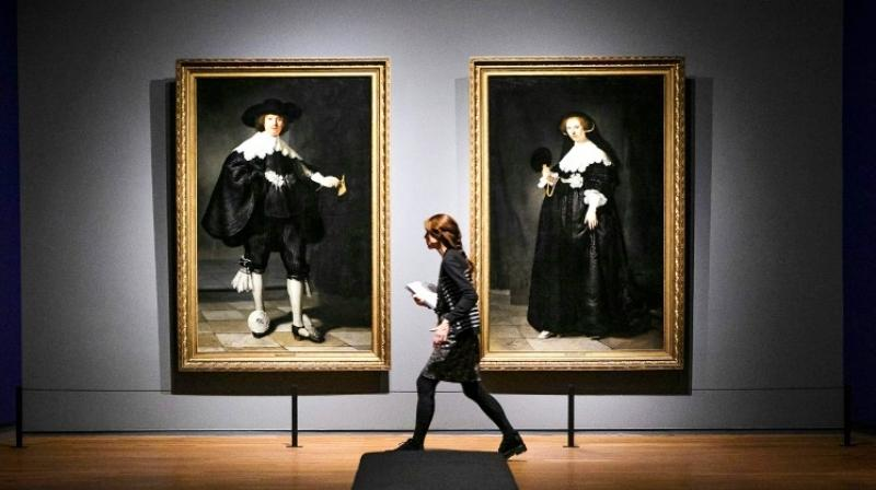 The landmark exhibition at Amsterdam's Rijkmuseum features nearly 400 paintings, drawings and sketches by Rembrandt. (Photo: AFP)