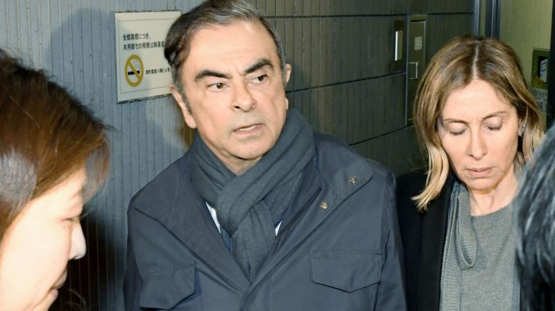 Ghosn was released on bail last month but rearrested last week. (Photo:AP)