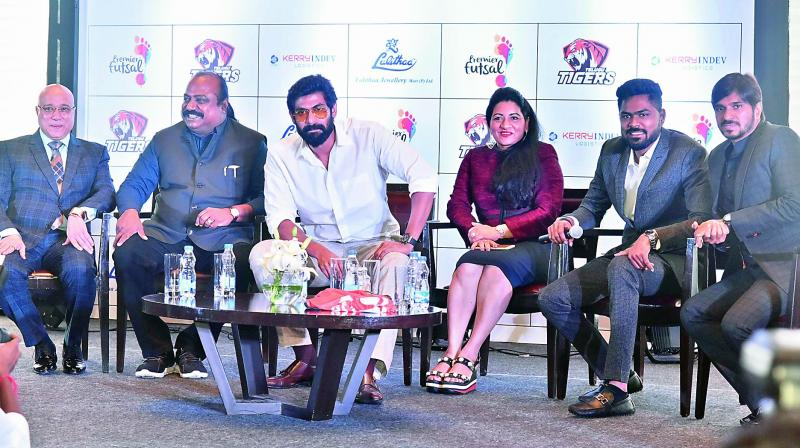 Actor Rana Daggubati is co-owner of Futsal team Telugu Tigers
