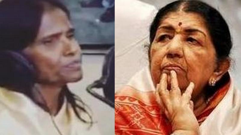 Ranu Mondal and Lata Mangeshkar. ( Photo Source: Instagram)