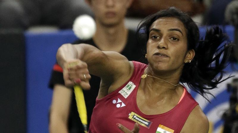 """""""Ms PV Sindhu boarded flight 6E608 Hyd-Mumbai last carrying oversized baggage which was not fitting into overhead bin,"""" said the Indigo Airlines before adding, """"Ms Sindhu was informed that it will be moved to cargo hold of aircraft. This is the same policy we follow for all customers."""" (Photo: AP)"""