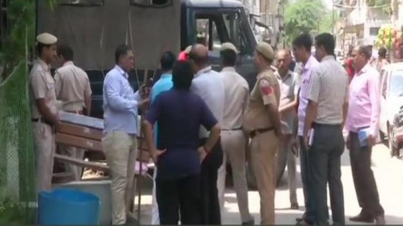 On Saturday, a couple in Dwarka was stabbed to death at their residence by unknown assailants. (Photo: ANI)