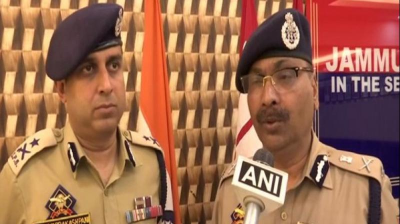 'They were wanted in a number of terror-related incidents, all of them were locals from Pulwama and Shopian. A large quantity of arms and ammunition and other incriminating information has been recovered from their possession,' DGP Dilbagh Singh said. (Photo: ANI)