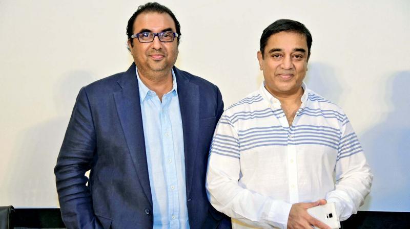 Shivendra Singh Dungarpur with Kamal Haasan