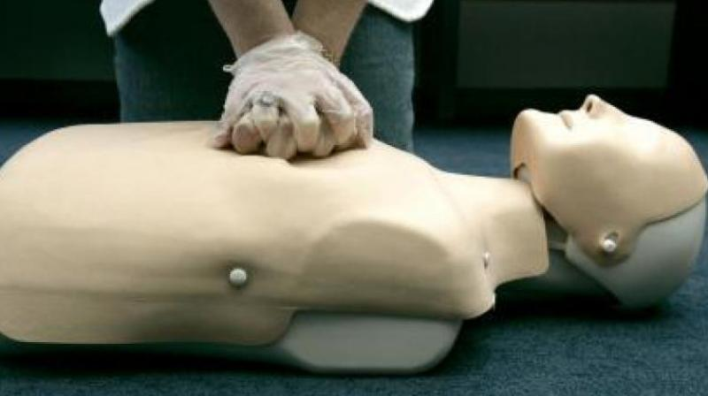Train your kids to perform CPR. (Photo: AFP)