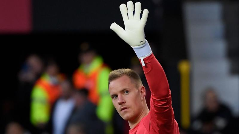 Goalkeeper Marc-Andre ter Stegen was the only player who started at Old Trafford to make the starting line-up against Huesca, although Barca were boosted by the return of France forward Ousmane Dembele after a month out injured. (Photo: AFP)