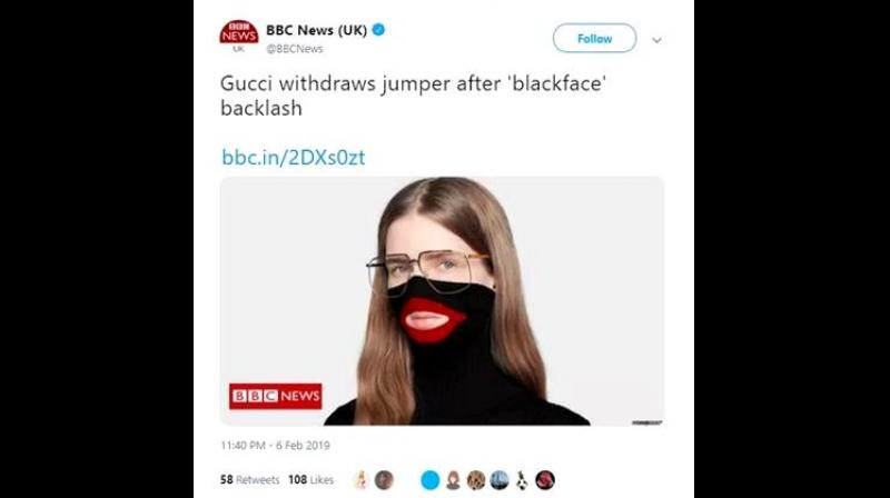 The apology Gucci issued said that they were fully committed to the concept of diversity and focused on increasing it throughout their organisation even. (Photo: BBCNews/Twitter)