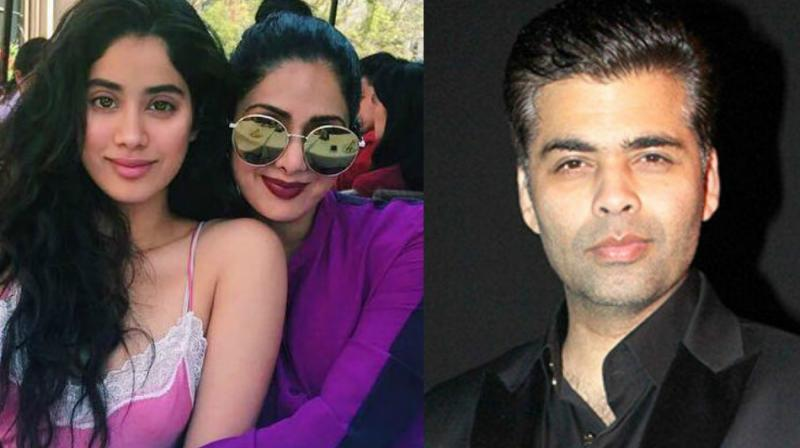 Image result for Sri Devi intends to make a movie with Karan Johar
