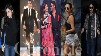 Bollywood celebs like Akshay Kumar, Arjun Kapoor, Malaika Arora, Ananya Panday, Jackie Shroff and others were spotted in the city of dreams, Mumbai. (Photos: Viral Bhayani)
