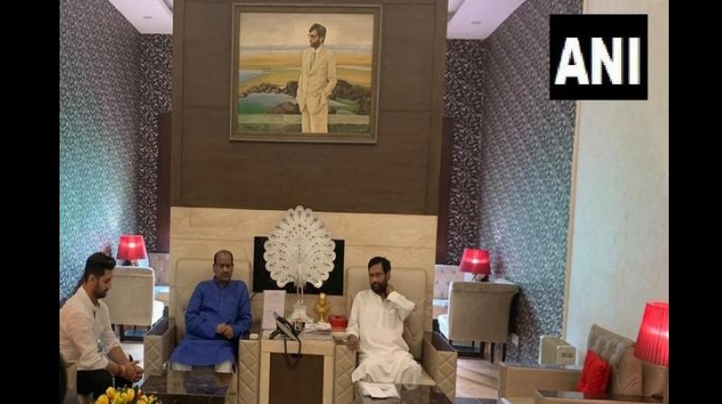 Speaking to media persons, Paswan had said that Ram Chandra was morew like a son to him. Speaker Om Birla met Union Minister Paswan at his residence. (Photo: ANI)