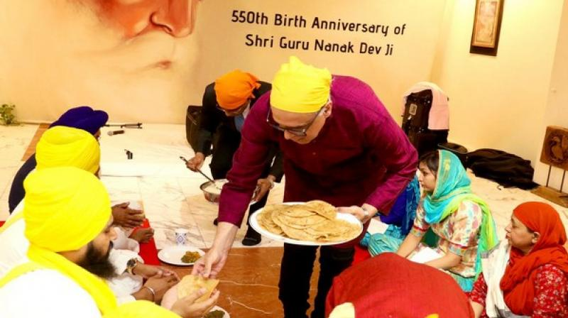 The 550th birth anniversary of Guru Nanak Dev was celebrated with much joy and fervour throughout the country and different parts of the world yesterday. (Photo: ANI)