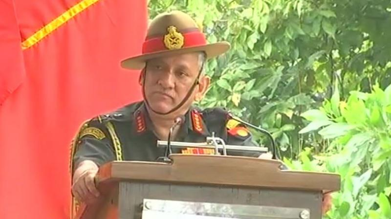 Army Chief General Bipin Rawat, who was in Karnataka on Saturday said that It's time to recommend Field Marshal KM Cariappa for the Bharat Ratna. (Photo: ANI | Twitter)