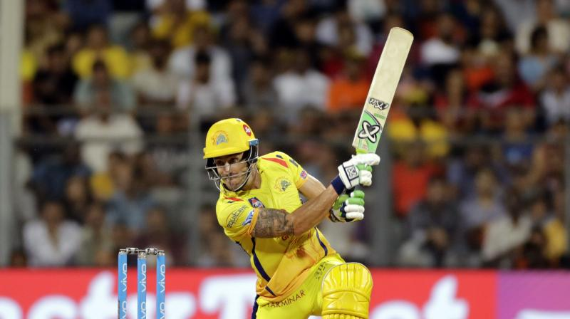 Du Plessis' unbeaten 67 anchors Chennai to IPL final