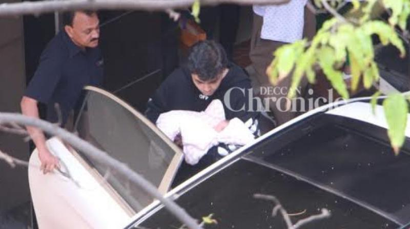 When Karan Johar was snapped taking his kids home from the hospital.