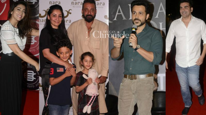 Bollywood stars like Emraan Hahsmi, Sanjay Dutt, Shriya Saran, Arbaaz Khan came out to lend their support to various ventures in Mumbai on Sunday and were snapped by the cameras. (Photo: Viral Bhayani)