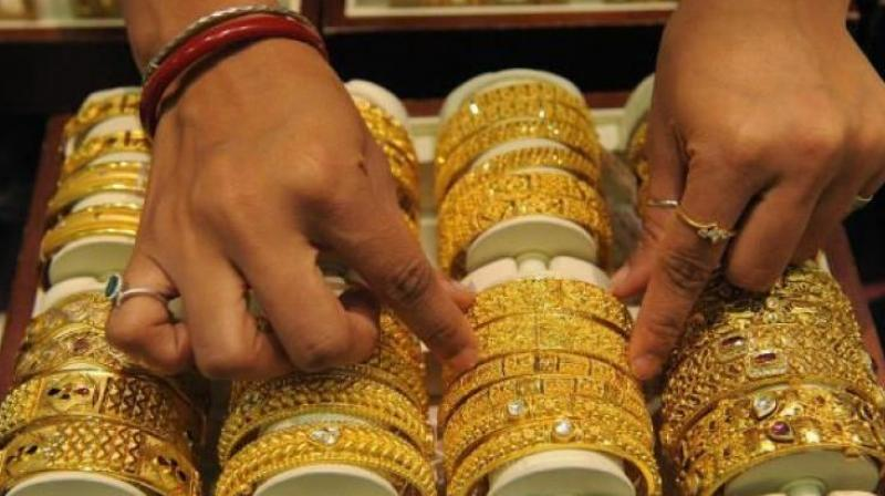 Gold futures fell 0.74 per cent to Rs 30,210 per 10 grams on Monday.