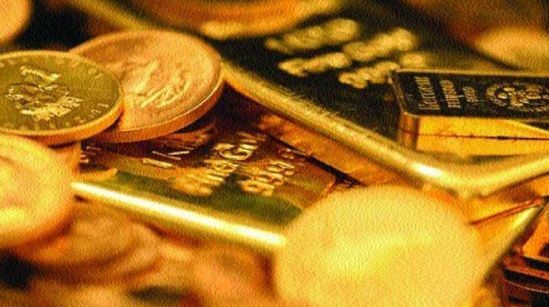 Gold prices rebounded at the bullion market here on Wednesday.