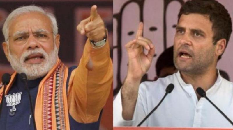 Prime Minister Narendra Modi and Congress chief Rahul Gandhi  (Photo: PTI)