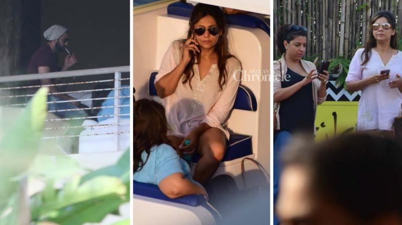 Shah Rukh Khan turned a year older on Wednesday and several celebrities including his wife Gauri, Ranbir Kapoor, Zoya Akhtar and others were snapped as they set off to Alibag for the party. (Photo: Viral Bhayani)