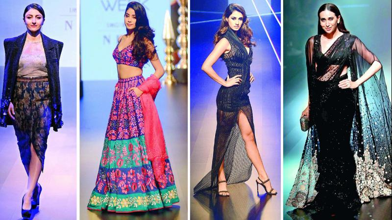 Who's who of Bollywood stole the spotlight as they walked the ramp for their favourite designers on day 3 of Lakme Fashion Week Winter/Festive 2018.