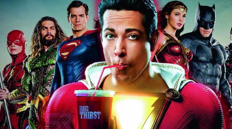 Movie Poster 2019: Shazam! Movie Review: Teen Gets Powers & Has Fun: Generic