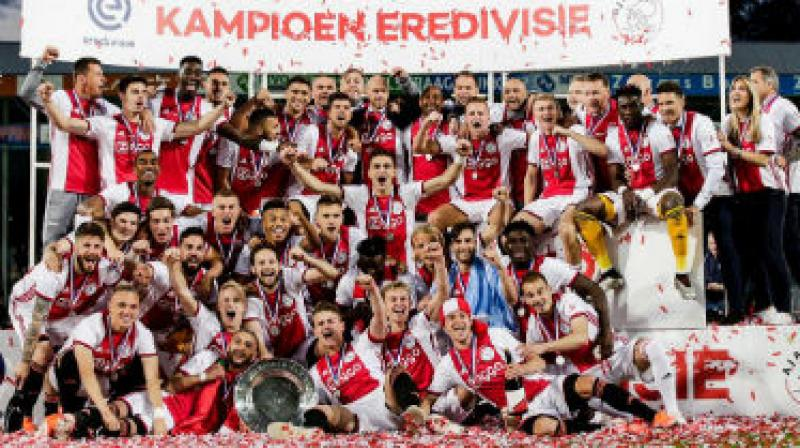 Ajax came into the final match of the season three points clear of closest rivals PSV Eindhoven with a 14-goal higher goal difference after they beat Utrecht 4-1 and the defending champions lost 1-0 at AZ Alkmaar on Sunday. (Photo: AFP)