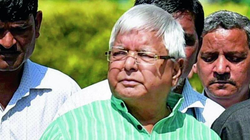 The RJD supremo was sentenced last year to seven years imprisonment under the Indian Penal Code (IPC) and seven years under the Prevention of Corruption Act in the fodder scam case.  (Photo: File)