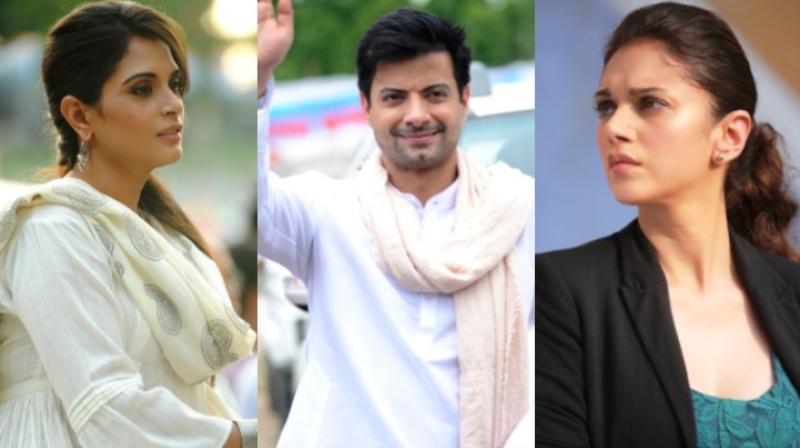 Richa Chadha, Rahul Bhat and Aditi Rao Hydari in stills from 'Daasdev.'