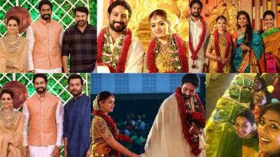Popular South actress Bhavana tied the knot with Kannada film producer Naveen in Thrissur, Kerala on Monday. (Photos: Facebook)
