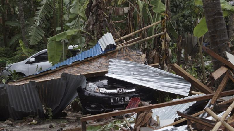 Images showed wave pushed tangled mess of corrugated steel roofing, timber, rubble and flotsam inland from coast at Carita beach and at other places it uprooted trees and left trail of debris strewn across ground., (Photo: AP)
