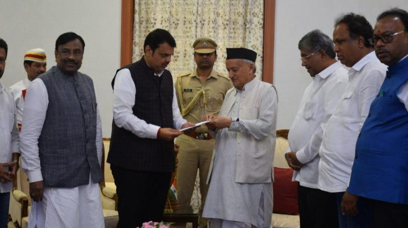 Fadnavis drove to Raj Bhavan in south Mumbai and submitted his resignation to Governor Bhagat Singh Koshyari, sources said.  (Photo: ANI)