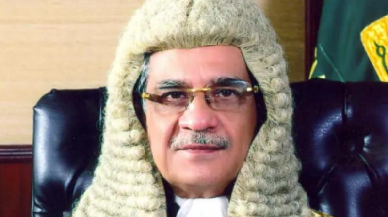 Pakistan's Chief Justice Saqib Nisar said that he called him thrice on polling day but he didn't pick up and was likely sleeping. (Photo: supremecourt.gov.pk)