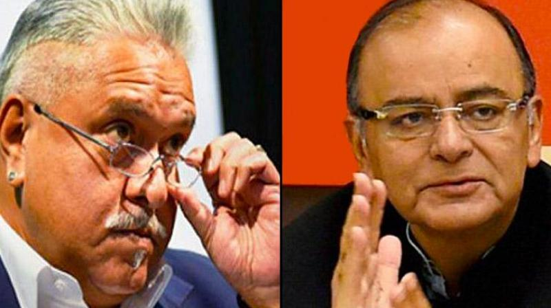 Arun Jaitley slams at Mallya for false claim