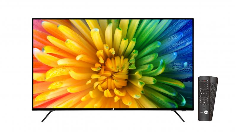 The TV is powered by Sensy Smart Technology, Unprecedented brightness and Spectacular HDR Picture Quality.