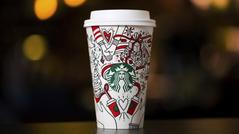 Starbucks said it started working on the design in January, finally deciding on this version because many customers liked to draw on them. (Photo: AP)