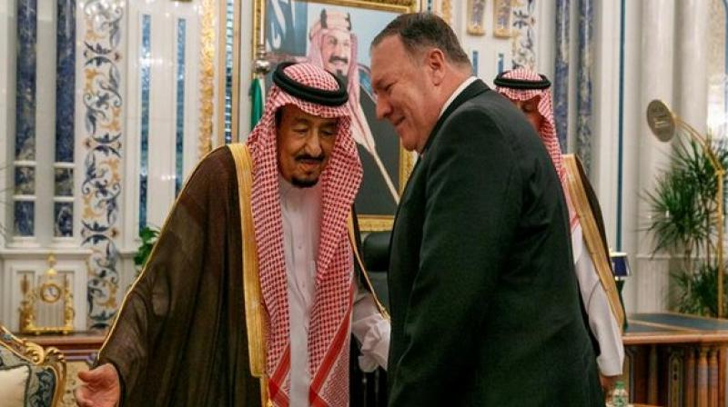 The official could not confirm if the case had been raised with Saudi Crown Prince Mohammed bin Salman (MBS), whom Pompeo met later, CNN reported. (Photo: ANI)
